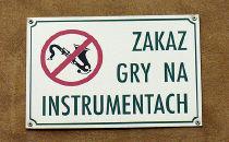 Zakaz muzykowania