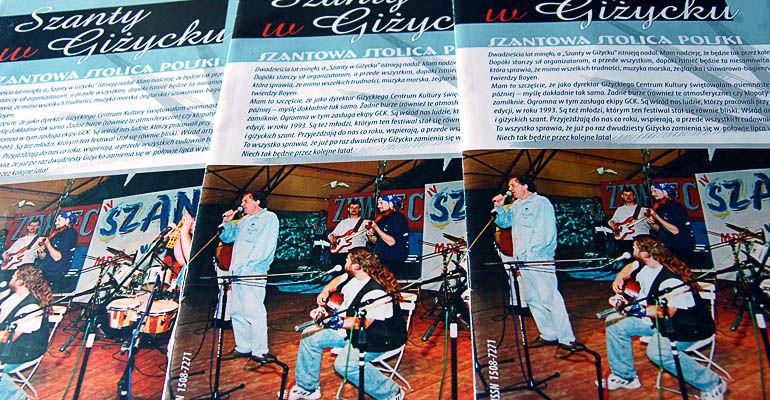 """Gazetka festiwalowa - """"Szanty w Giżycku"""""""