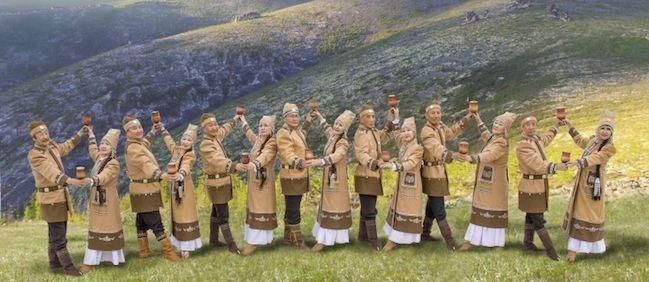 Góralski zespół folklorystyczny z Rosji